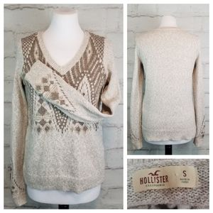 Hollister S Beige Taupe Soft Cozy Long Slv Sweater